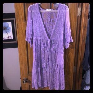 Purple lace duster 💜